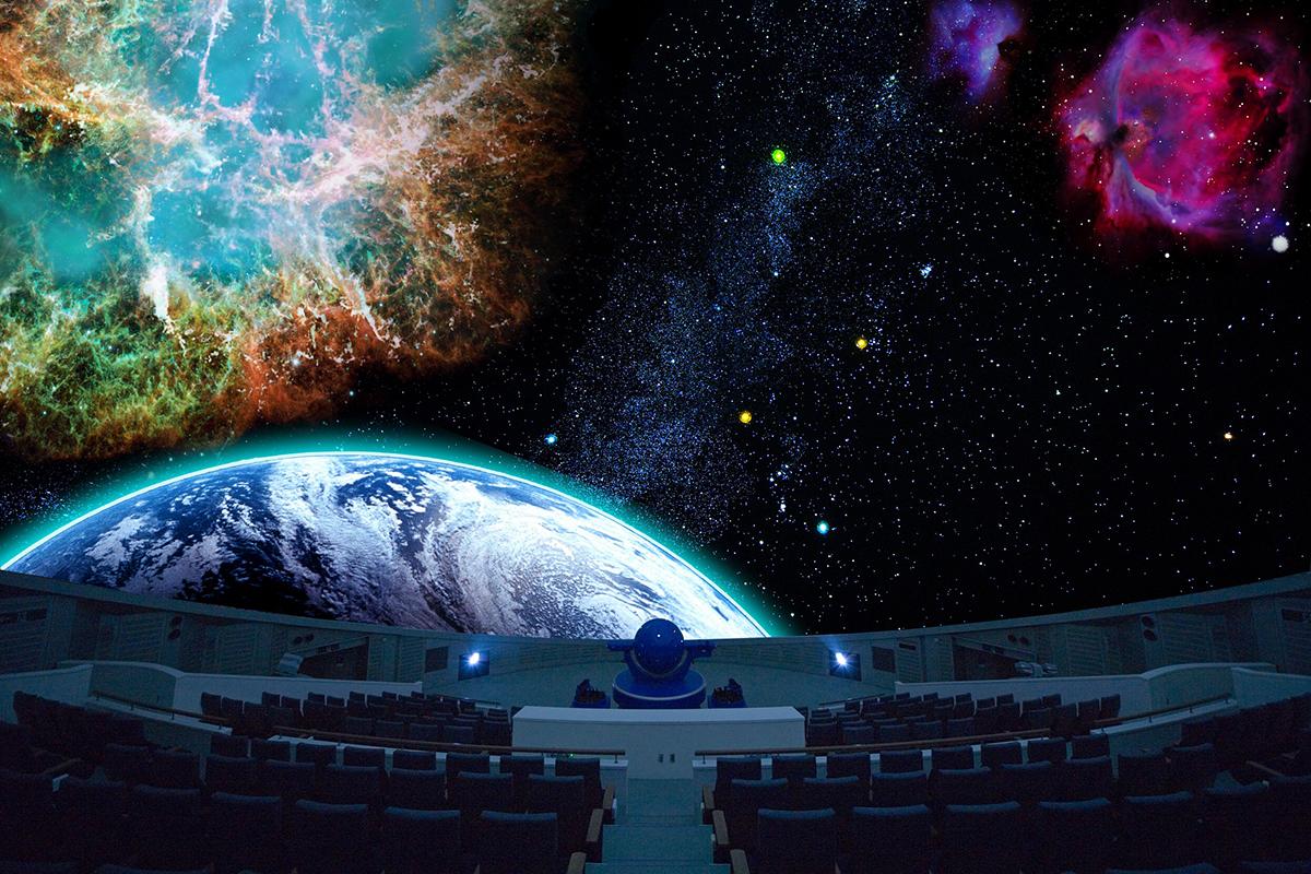 直径25.6メートルのドーム型プラネタリウムは世界最大級! こども向け番組やつくばエキスポセンターオリジナルの番組などプログラムも豊富です。